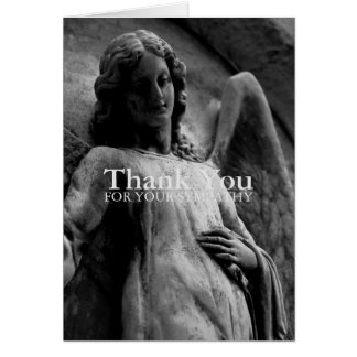 Angel 4 Christian Memorial Sympathy Thank You Note Card