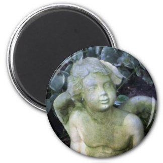Angel 6 Cm Round Magnet