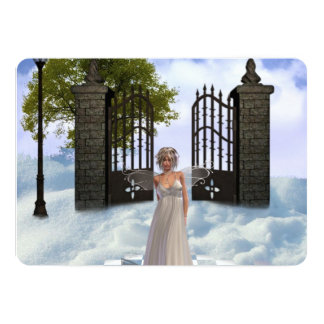 "angel-7 5"" x 7"" invitation card"