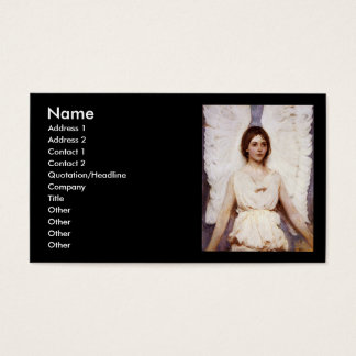Angel, Abbott Handerson Thayer Fine Art Business Card
