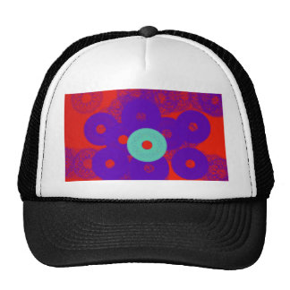 angel abstract art with red and blue so powerful mesh hat