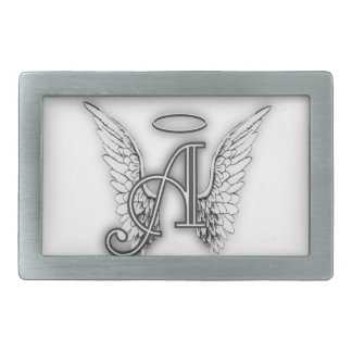 Angel Alphabet A Initial Latter Wings Halo Belt Buckles