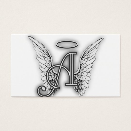 Angel Alphabet A Initial Latter Wings Halo Business