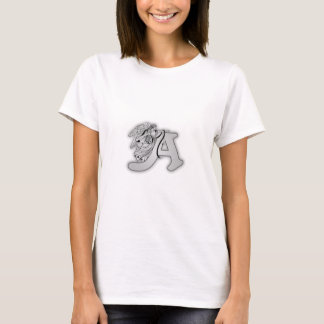Angel Alphabet A Initial Monogram T-Shirt