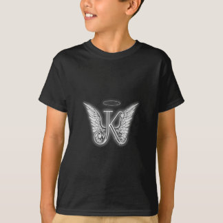 Angel Alphabet K Initial Letter Wings Halo T-Shirt