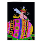 Angel and a Pysanka, Ukrainian Folk Art Card