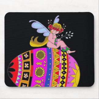 Angel and a Pysanka, Ukrainian Folk Art Mouse Mats