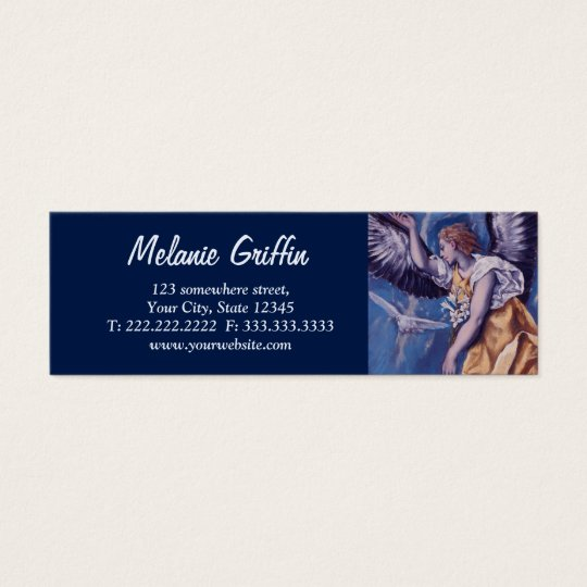 Angel and a White Dove Mini Business Card