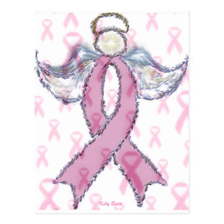 Angel and Breast Cancer Postcard