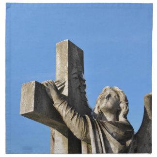 Angel and cross napkin