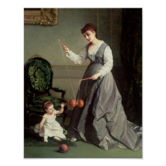 `Angel and Devil' or `Playing Diabolo Poster