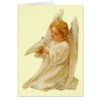 Angel and Dove - Easter Card