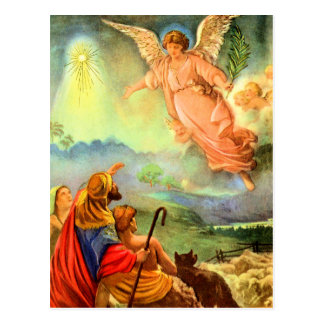 Angel and the Shepherds Postcard