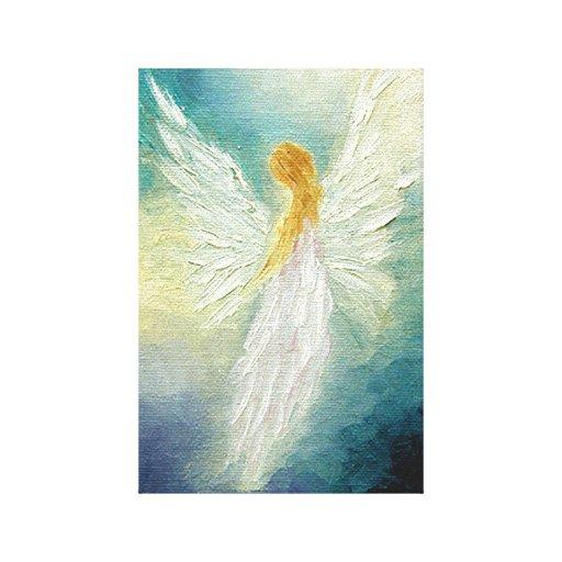 Angel Art Print on Canvas Gallery Wrap Canvas