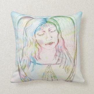 Angel at Prayer Throw Pillow