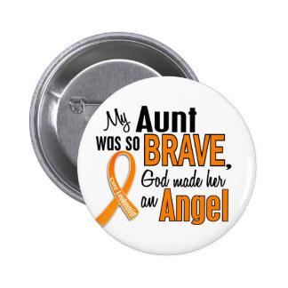 Angel Aunt Leukemia 6 Cm Round Badge