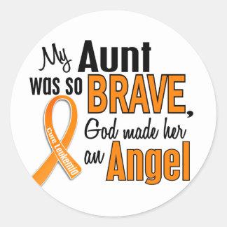 Angel Aunt Leukemia Sticker