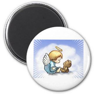 Angel baby and teddy bear fridge magnets