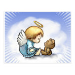 Angel baby and teddy bear post cards