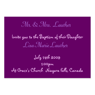 Angel Baby Baptism Business Card Template