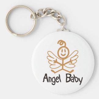 Angel Baby Basic Round Button Key Ring