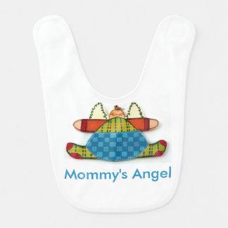 Angel baby bib