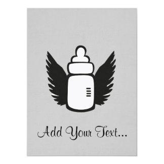 Angel Baby bottle 17 Cm X 22 Cm Invitation Card