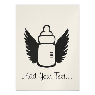 "Angel Baby bottle 6.5"" X 8.75"" Invitation Card"