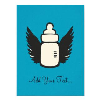 Angel Baby bottle Personalized Invitation