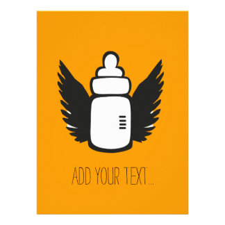 Angel Baby bottle Personalized Invite