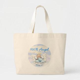 Angel Baby Boy - Heaven sent Jumbo Tote Bag