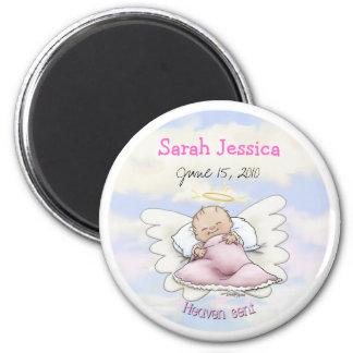 Angel Baby Girl - Heaven sent 6 Cm Round Magnet