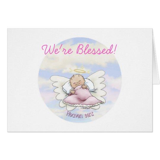 Angel Baby Girl - Heaven sent Card