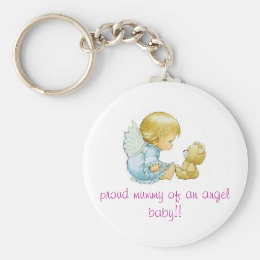 angel baby keychain