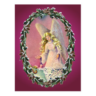 ANGEL, BABY & WREATH by SHARON SHARPE Post Card