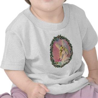 ANGEL, BABY & WREATH by SHARON SHARPE T Shirts