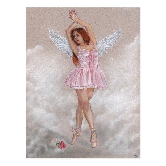 Angel ballerina rose Postcard