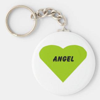 Angel Basic Round Button Key Ring
