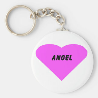 Angel Basic Round Button Key Ring