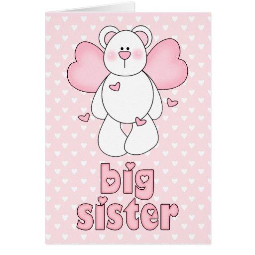 Angel Bear Big Sister Cards