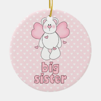 Angel Bear Big Sister Christmas Ornament