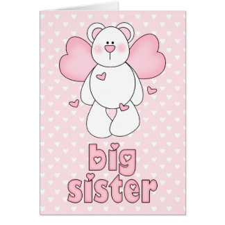 Angel Bear Big Sister Note Card