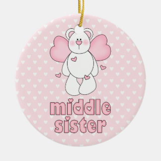 Angel Bear Middle Sister Christmas Ornament