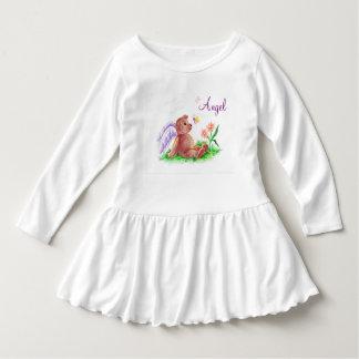 Angel Bear Toddler Ruffle Dress