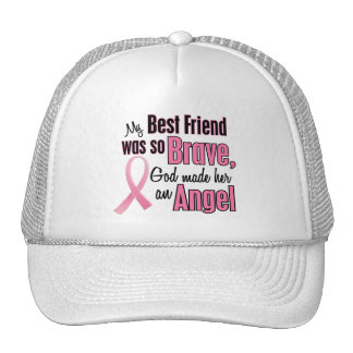Angel BEST FRIEND Breast Cancer T-Shirts & Apparel Trucker Hat