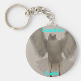 Angel Bird Basic Round Button Key Ring