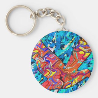Angel Bird - Up above sky so high Basic Round Button Key Ring