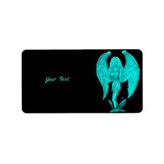 Angel , Black and Green design Label