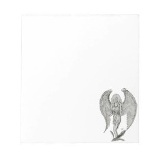 Angel black and white design notepad