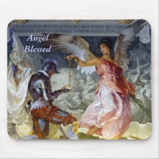 Angel Blessed Mouse Mat
